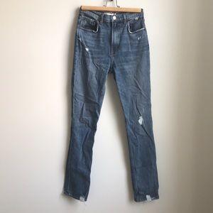 REFORMATION • Hepburn High Rise Distressed Jeans